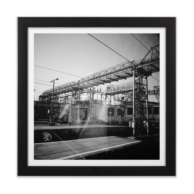 View from the train 6 BW Home Framed Fine Art Print by Dogfish's Merch