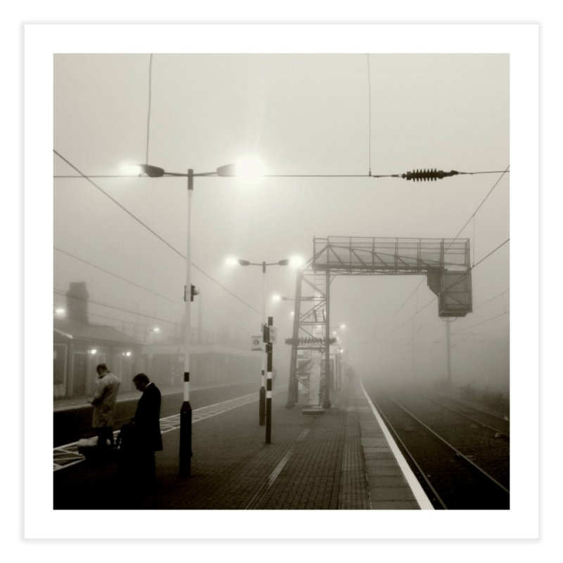 View from the train 8 BW Home Fine Art Print by Dogfish's Merch