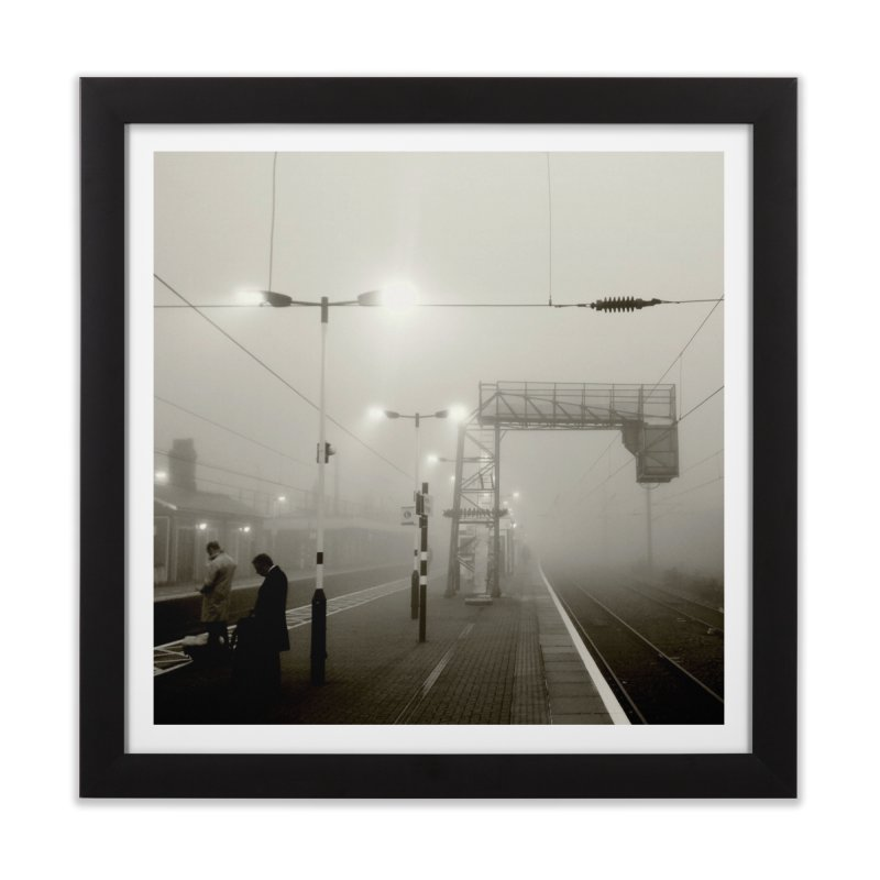 View from the train 8 BW Home Framed Fine Art Print by Dogfish's Merch