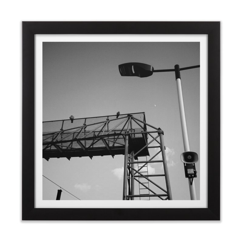 View from the train 7 BW Home Framed Fine Art Print by Dogfish's Merch