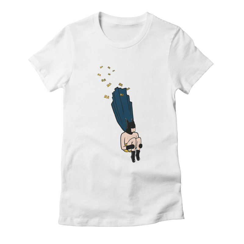 Bat Bomb Women's Fitted T-Shirt by Tristan Young