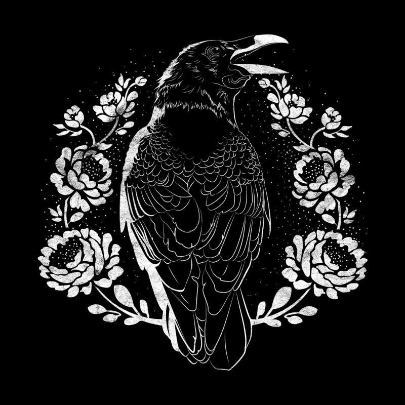 Rosey Raven Men's Zip-Up Hoody by DoomandBloom's Artist Shop