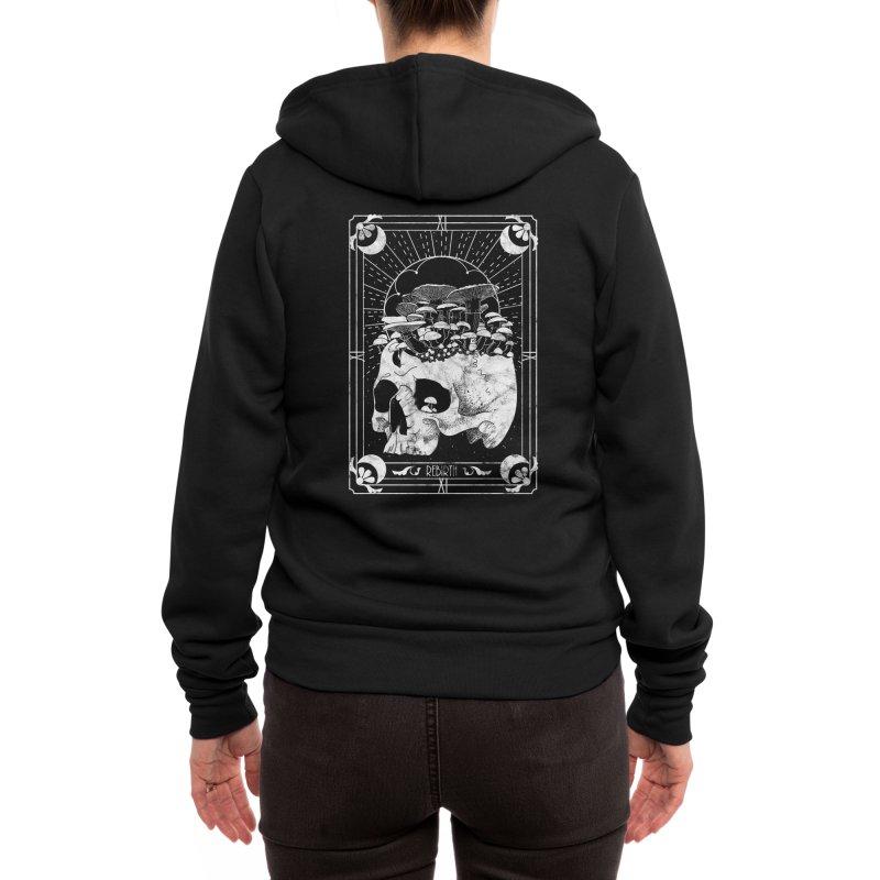 Rebirth Tarot Women's Zip-Up Hoody by DoomandBloom's Artist Shop