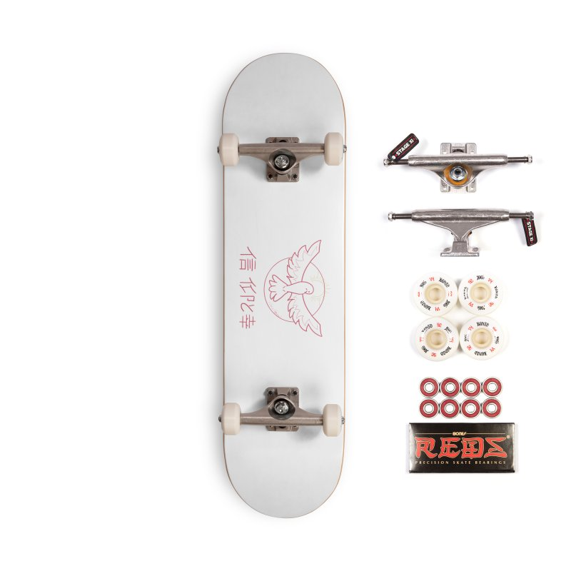 Faith and Happiness Accessories Complete - Pro Skateboard by Dove's Flight