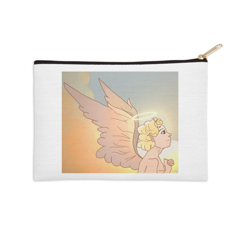 Grant Us Peace Accessories Zip Pouch by Dove's Flight