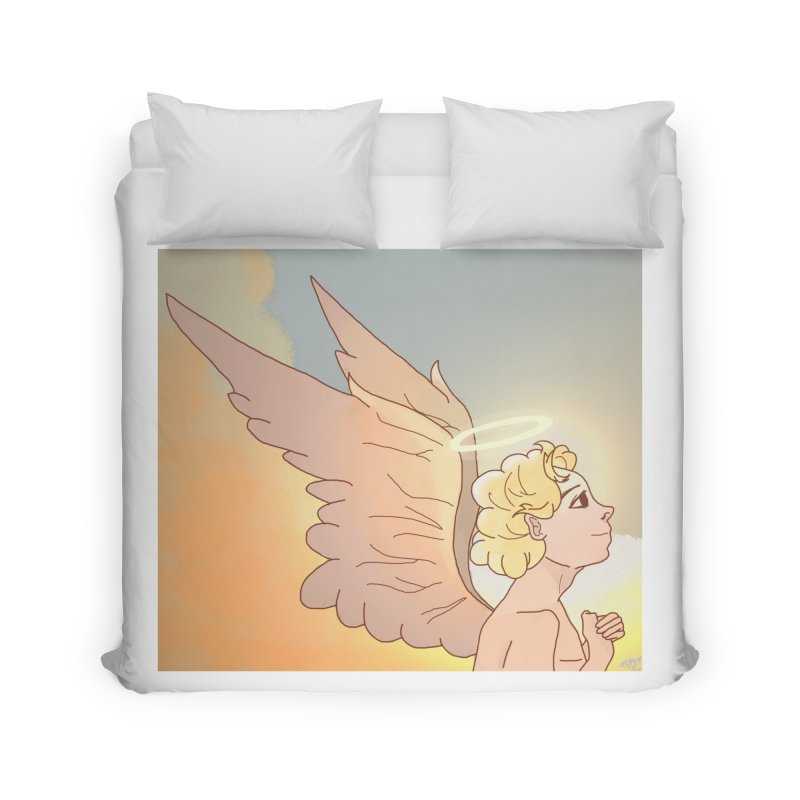 Grant Us Peace Home Duvet by Dove's Flight