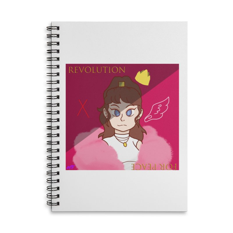 Choose Your Revolt Accessories Lined Spiral Notebook by Dove's Flight