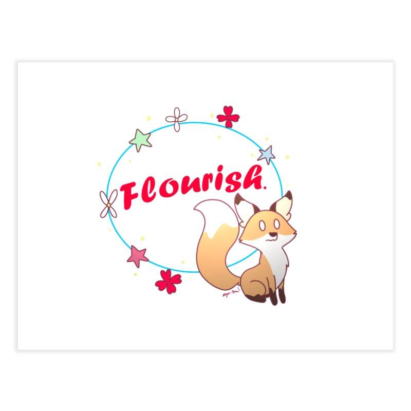 Flourish Fox Home Fine Art Print by Dove's Flight