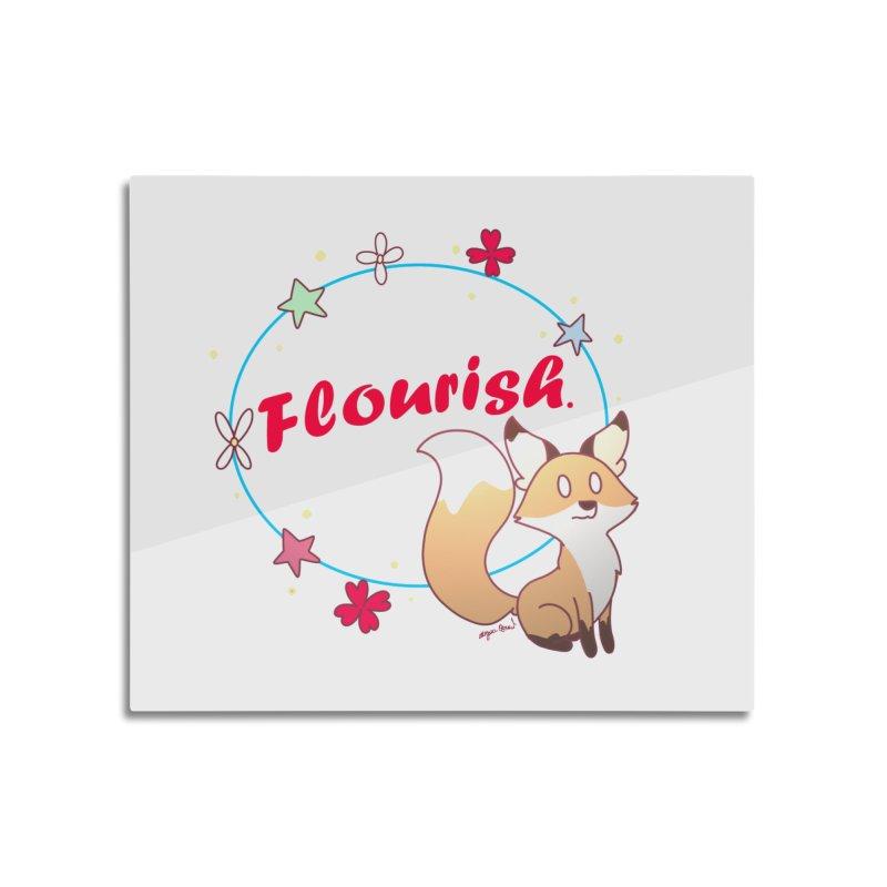 Flourish Fox Home Mounted Acrylic Print by Dove's Flight
