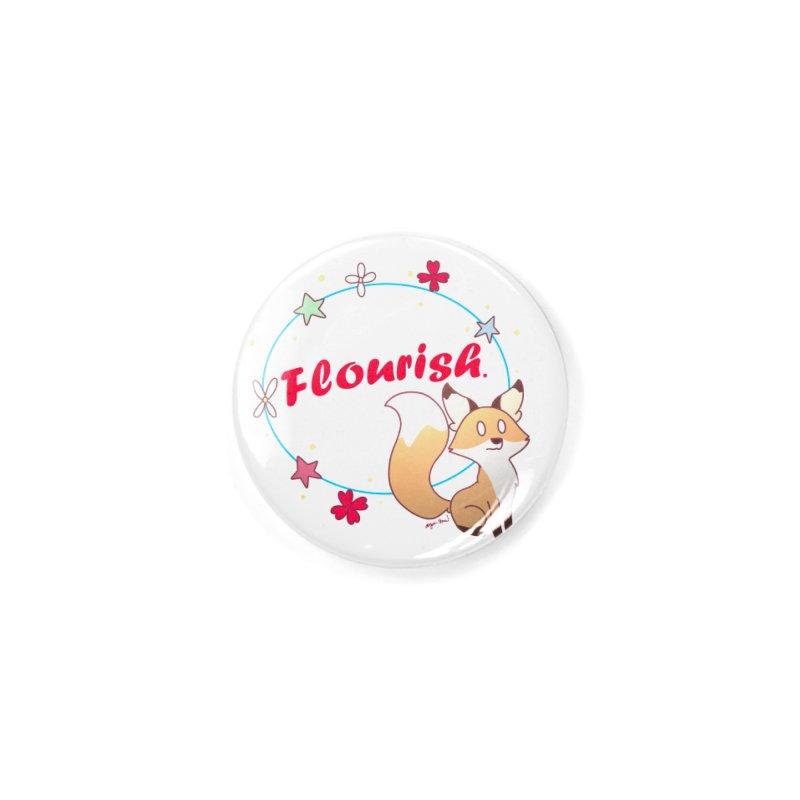Flourish Fox Accessories Button by Dove's Flight