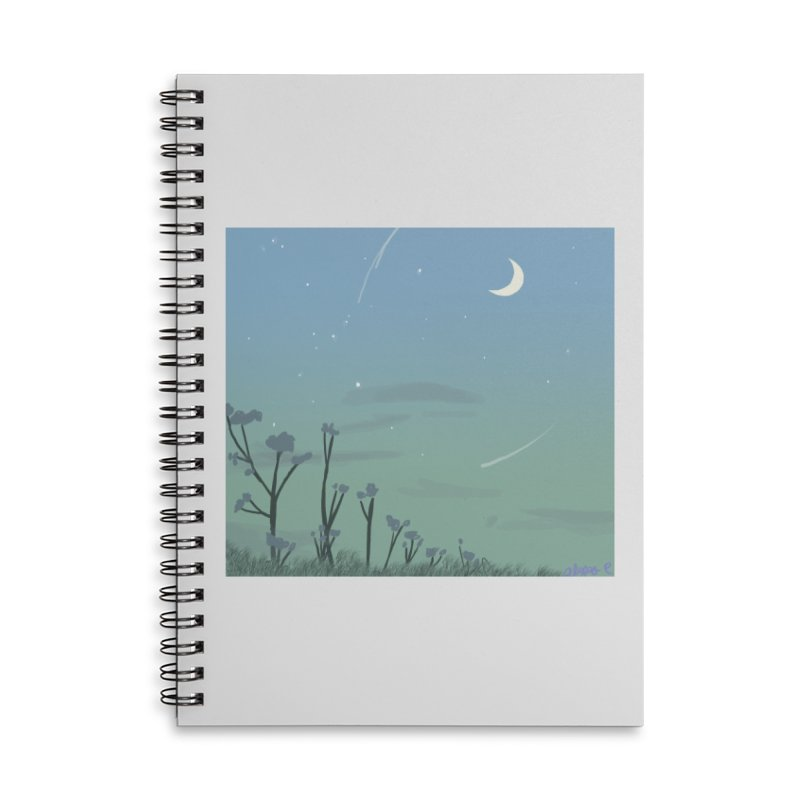 Summer Nights Accessories Lined Spiral Notebook by Dove's Flight