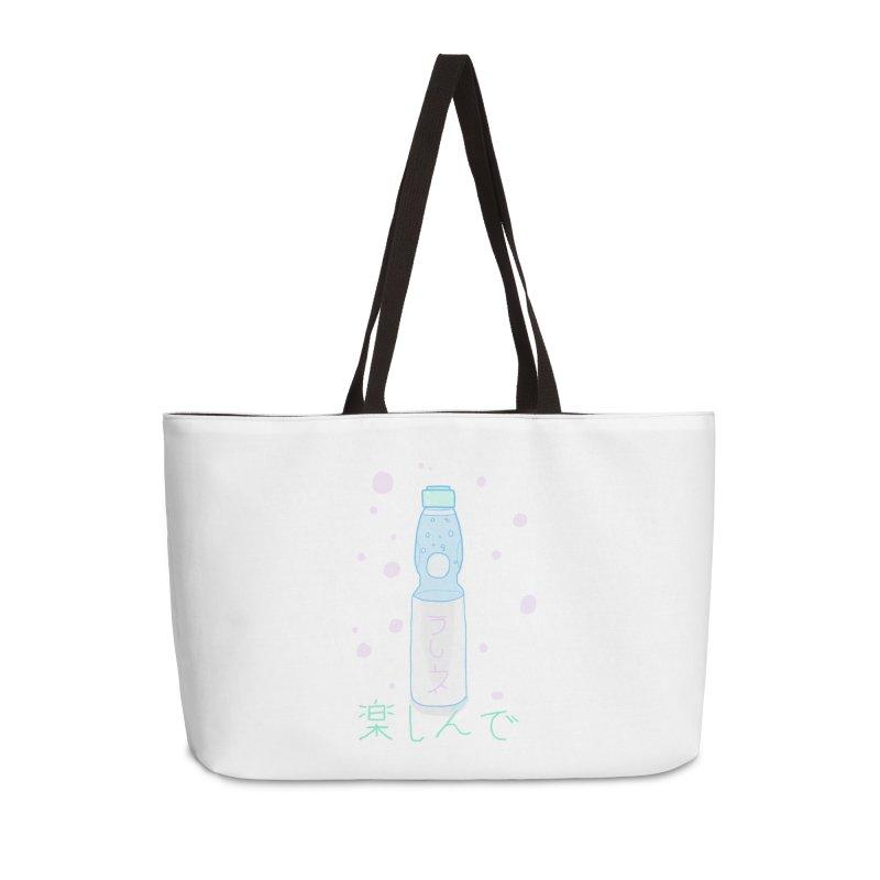 Enjoy Ramune! Accessories Weekender Bag Bag by Dove's Flight