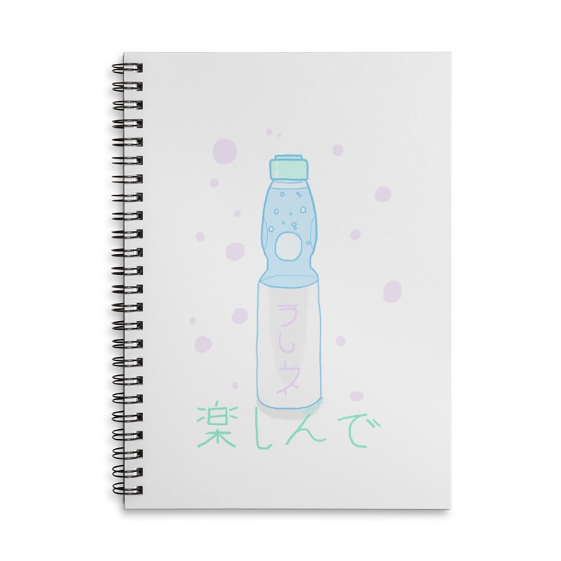 Enjoy Ramune! Accessories Lined Spiral Notebook by Dove's Flight