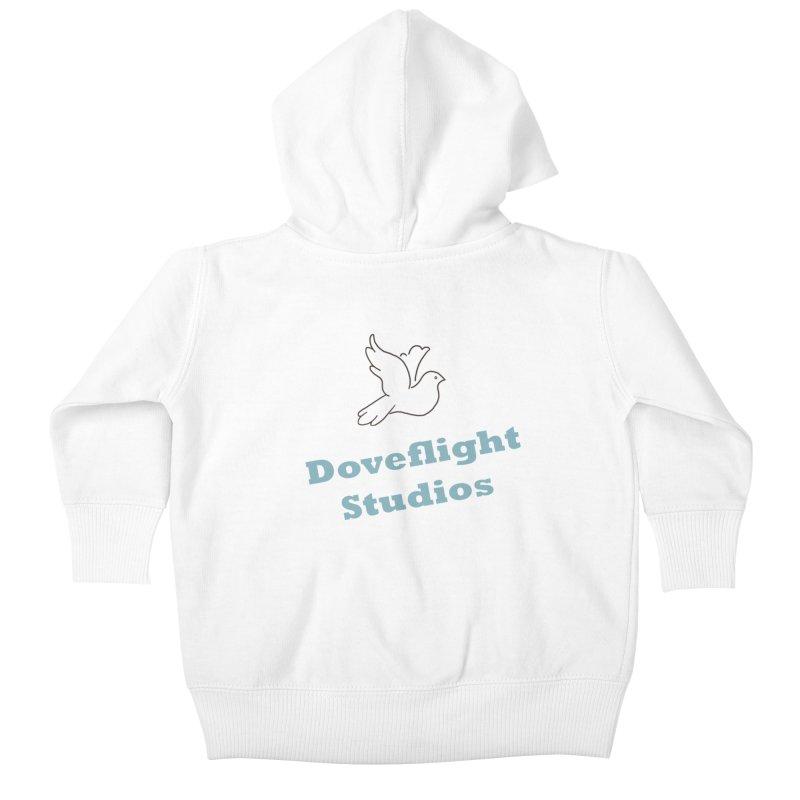 Doveflight Studios Official Logo Kids Baby Zip-Up Hoody by Dove's Flight
