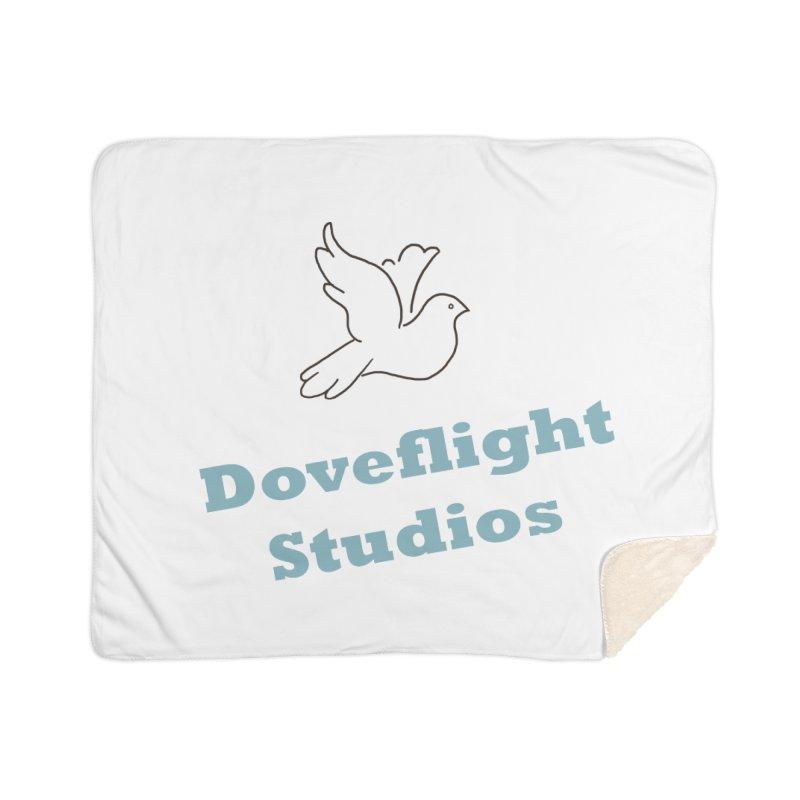 Doveflight Studios Official Logo Home Sherpa Blanket Blanket by Dove's Flight