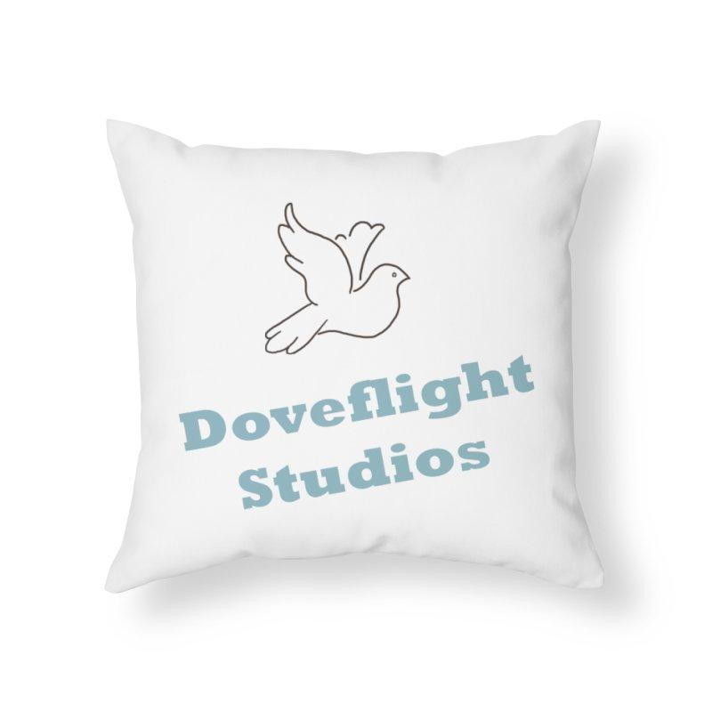 Doveflight Studios Official Logo Home Throw Pillow by Dove's Flight