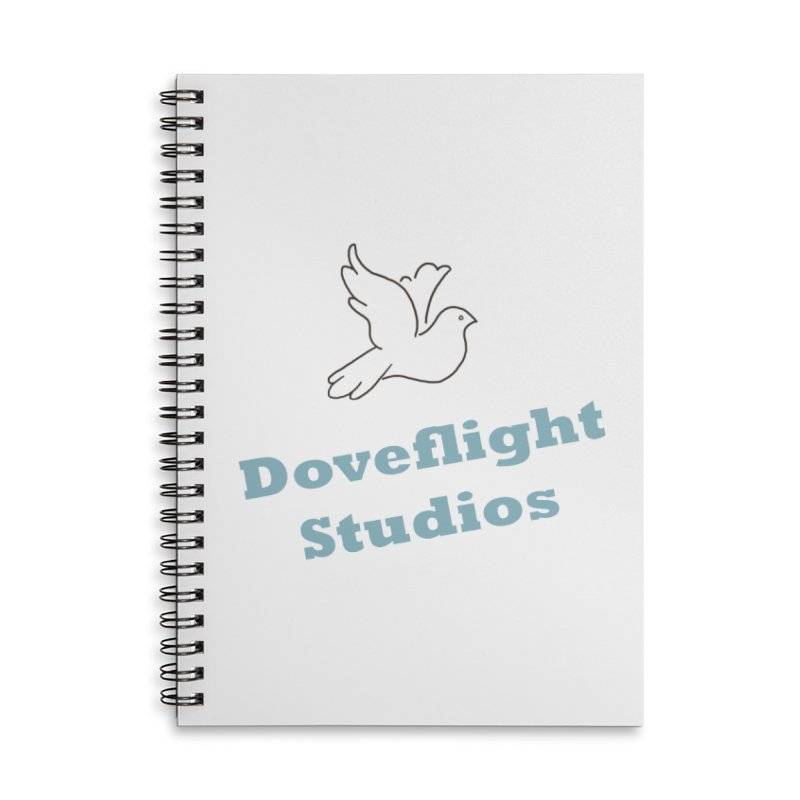 Doveflight Studios Official Logo Accessories Lined Spiral Notebook by Dove's Flight