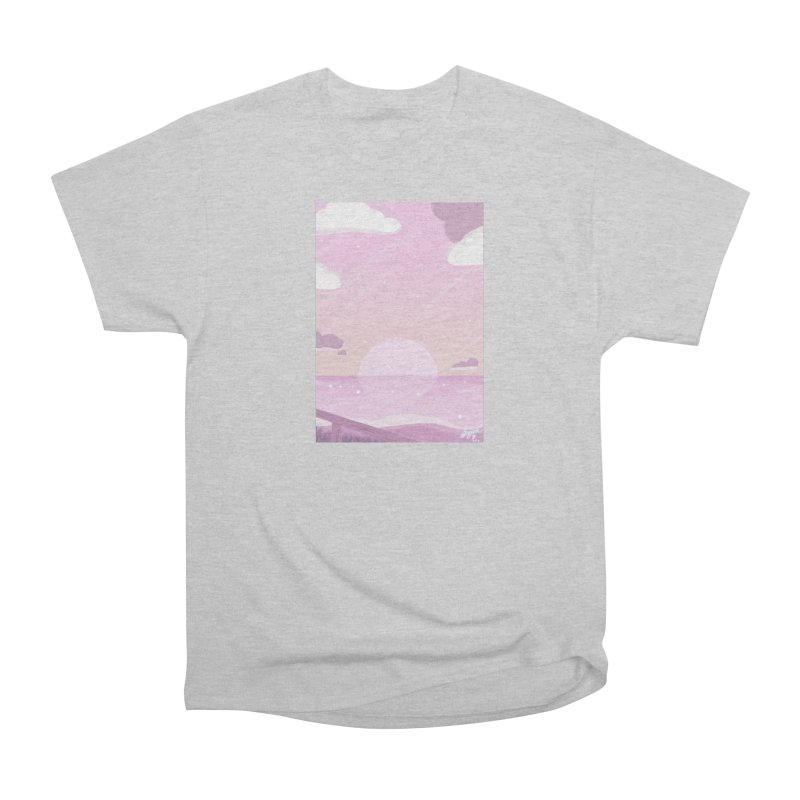 Evening by the Shore Women's Heavyweight Unisex T-Shirt by Dove's Flight