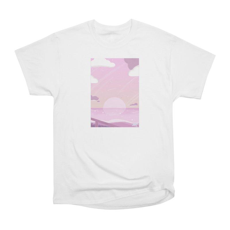 Evening by the Shore Women's Heavyweight Unisex T-Shirt by Dove's Flight