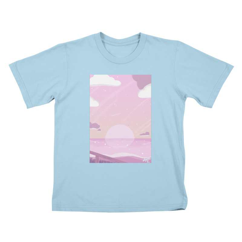 Evening by the Shore Kids T-Shirt by Dove's Flight