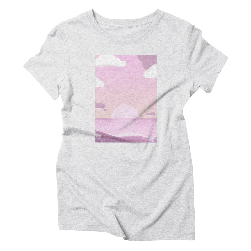 Evening by the Shore Women's Triblend T-Shirt by Dove's Flight
