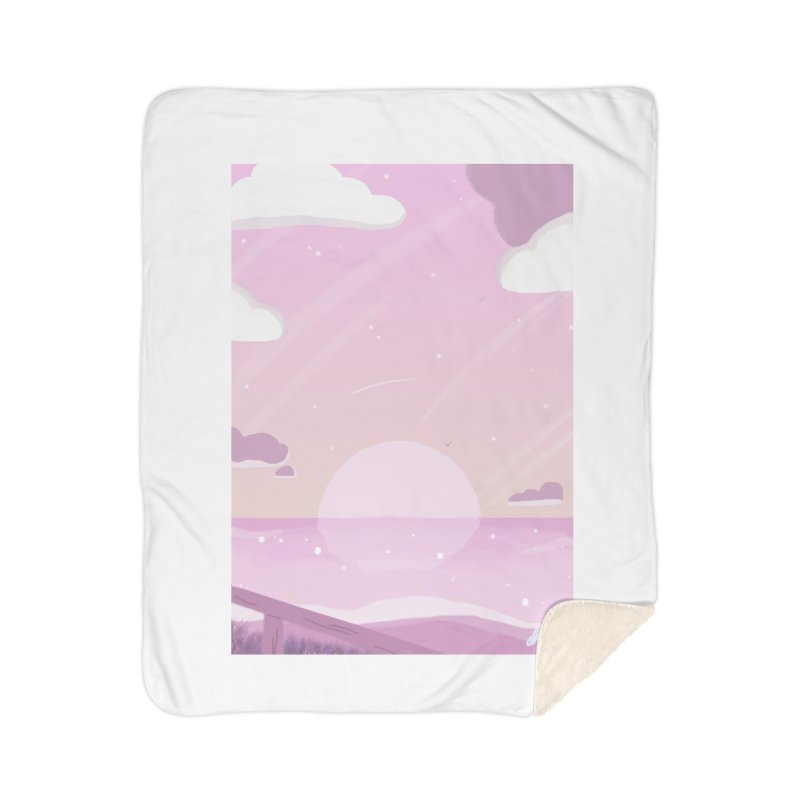 Evening by the Shore Home Sherpa Blanket Blanket by Dove's Flight