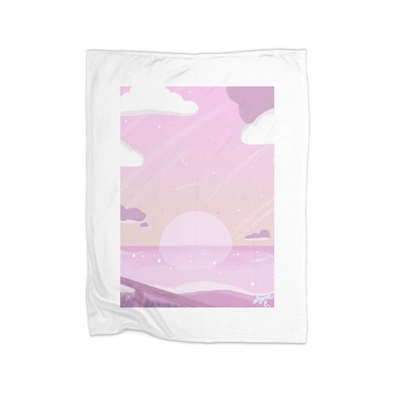 Evening by the Shore Home Fleece Blanket Blanket by Dove's Flight