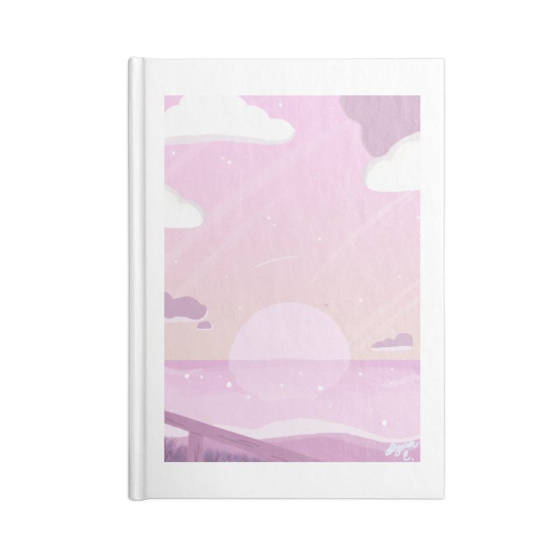 Evening by the Shore Accessories Lined Journal Notebook by Dove's Flight