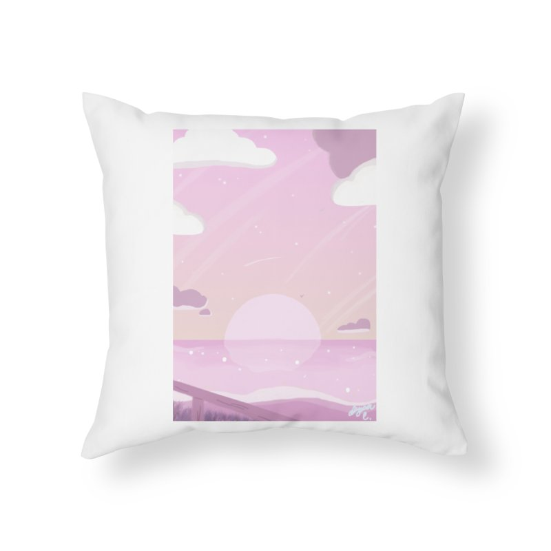 Evening by the Shore Home Throw Pillow by Dove's Flight