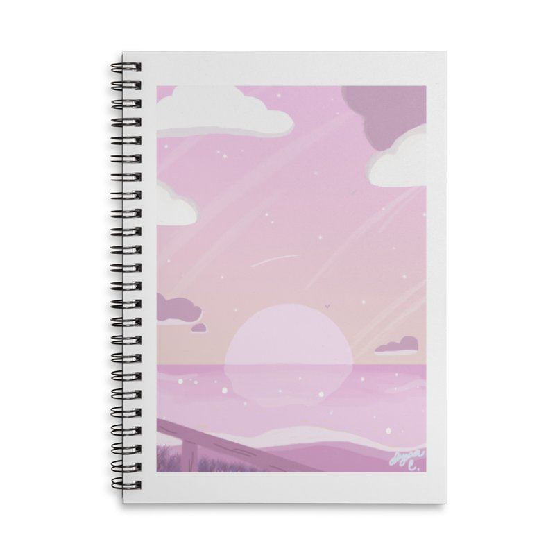 Evening by the Shore Accessories Lined Spiral Notebook by Dove's Flight