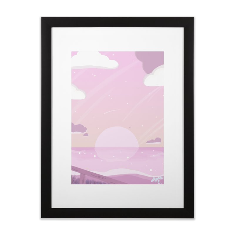 Evening by the Shore Home Framed Fine Art Print by Dove's Flight