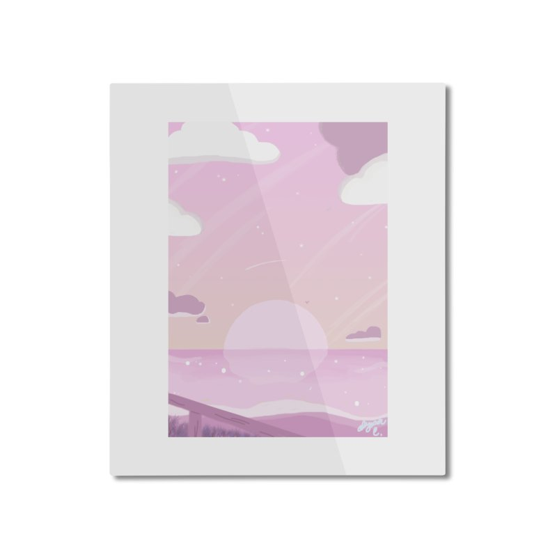 Evening by the Shore Home Mounted Aluminum Print by Dove's Flight