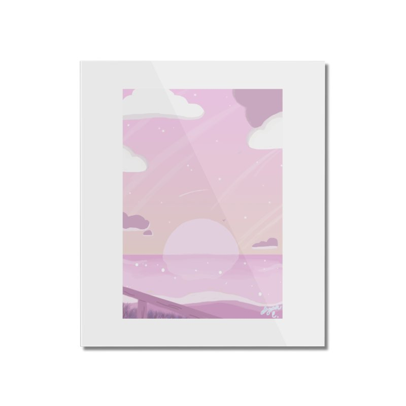 Evening by the Shore Home Mounted Acrylic Print by Dove's Flight