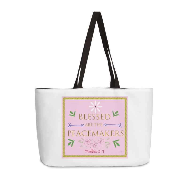 Blessed are the Peacemakers Accessories Weekender Bag Bag by Dove's Flight