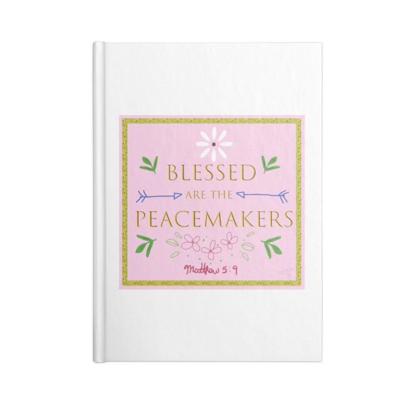 Blessed are the Peacemakers Accessories Lined Journal Notebook by Dove's Flight