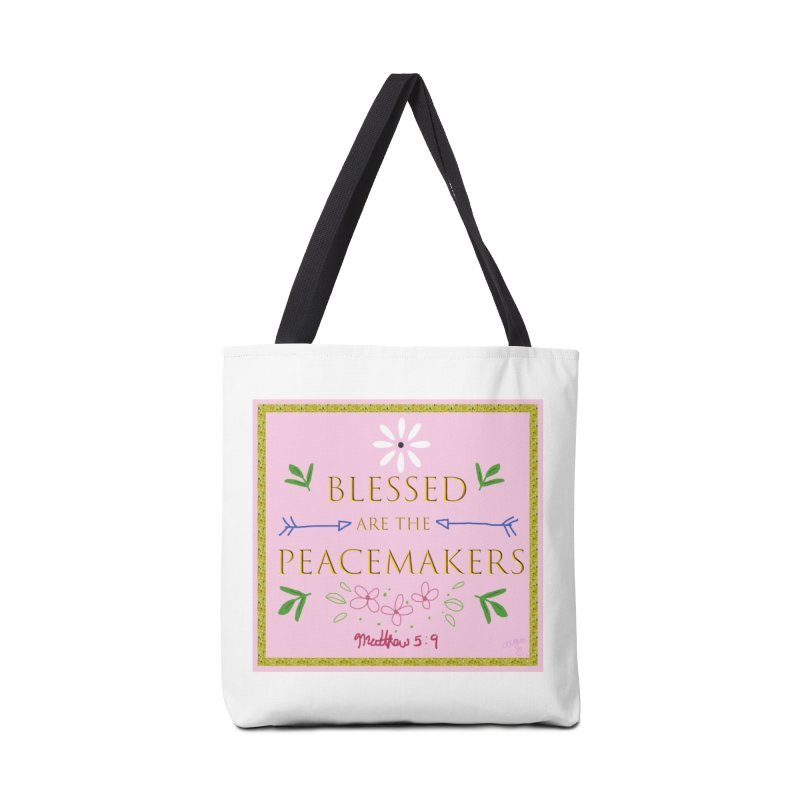 Blessed are the Peacemakers Accessories Tote Bag Bag by Dove's Flight