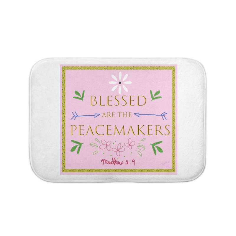 Blessed are the Peacemakers Home Bath Mat by Dove's Flight