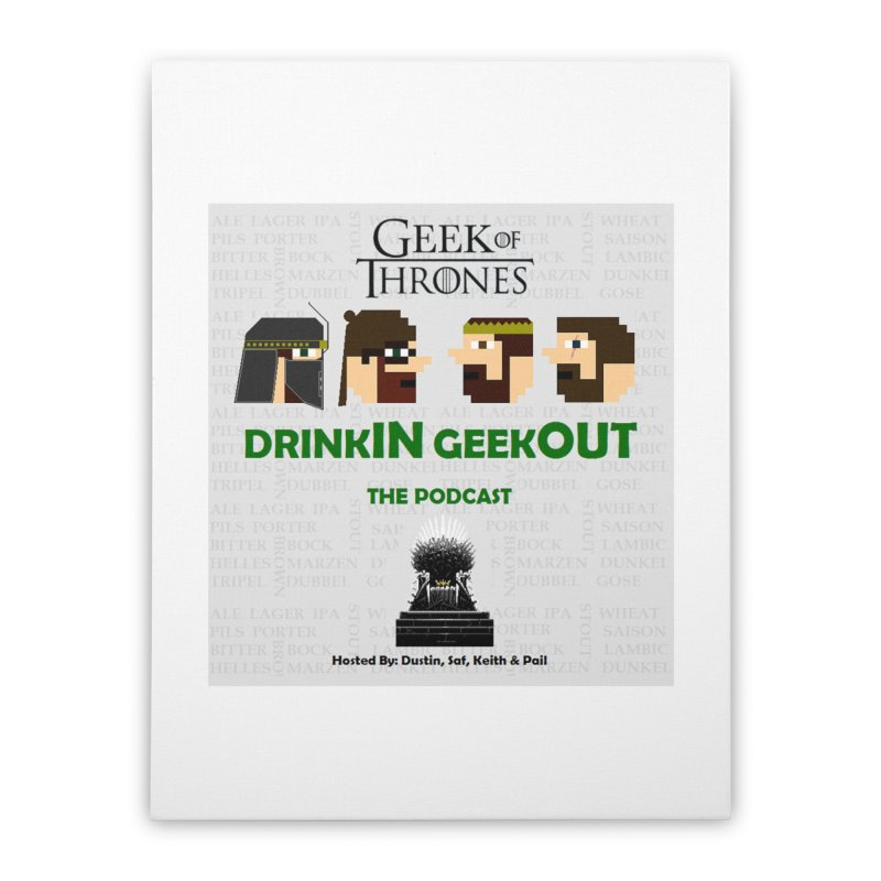 GoT Heads Home Stretched Canvas by DrinkIN GeekOUT's Artist Shop
