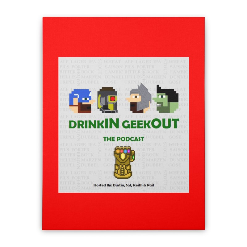 Marvel Heads Home Stretched Canvas by DrinkIN GeekOUT's Artist Shop
