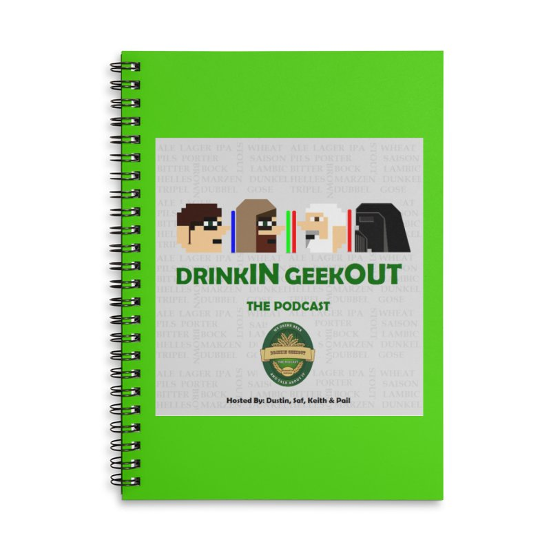 Jedi Heads Accessories Lined Spiral Notebook by DrinkIN GeekOUT's Artist Shop