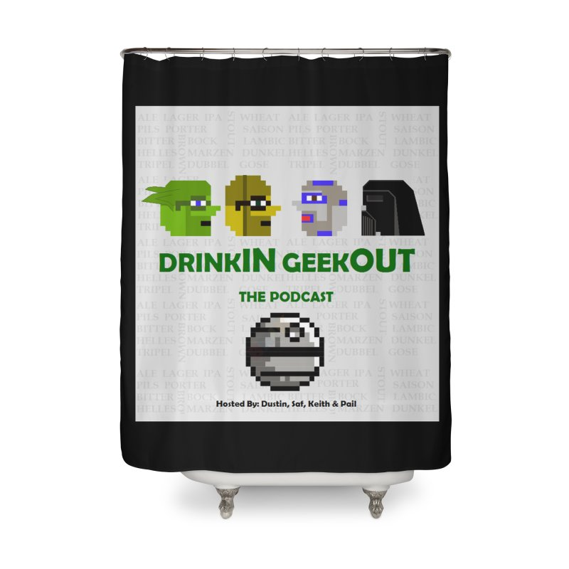 Star Wars Heads Home Shower Curtain by DrinkIN GeekOUT's Artist Shop