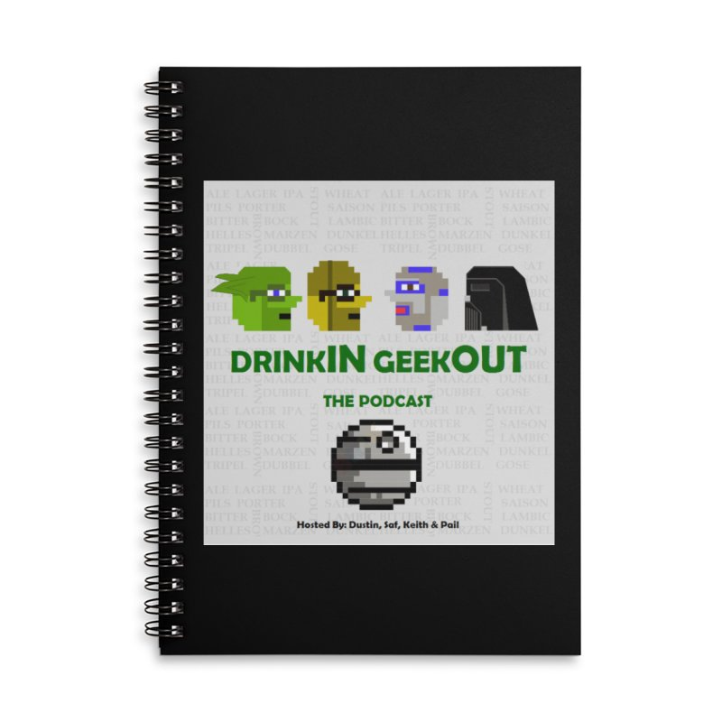Star Wars Heads Accessories Lined Spiral Notebook by DrinkIN GeekOUT's Artist Shop