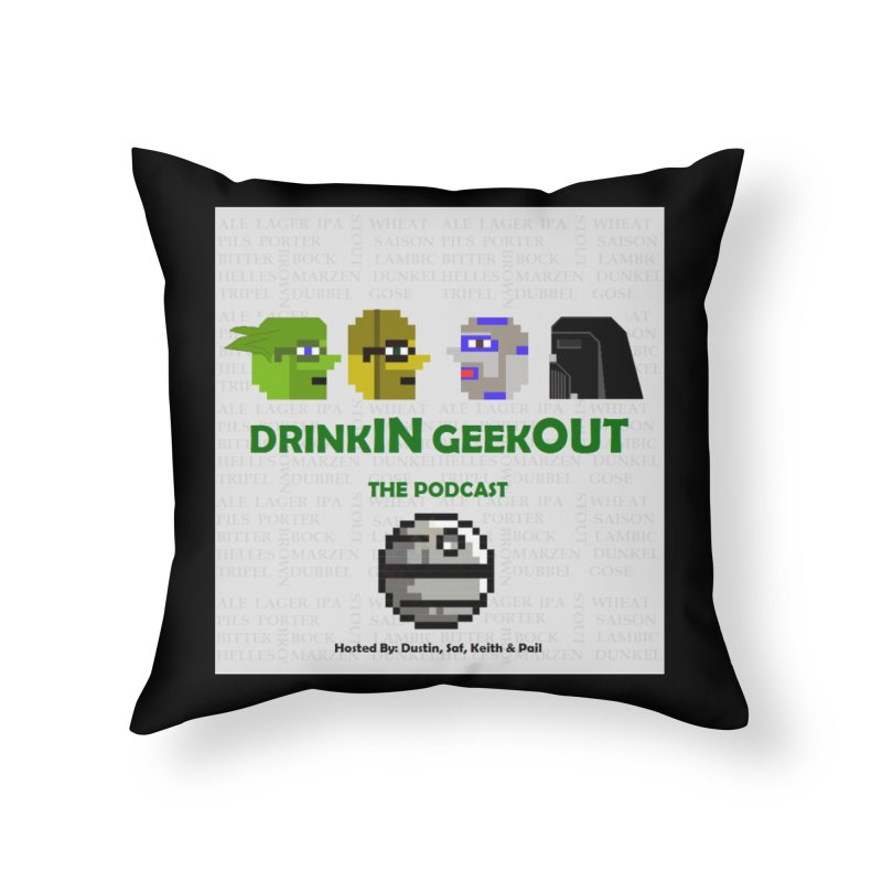 Star Wars Heads Home Throw Pillow by DrinkIN GeekOUT's Artist Shop