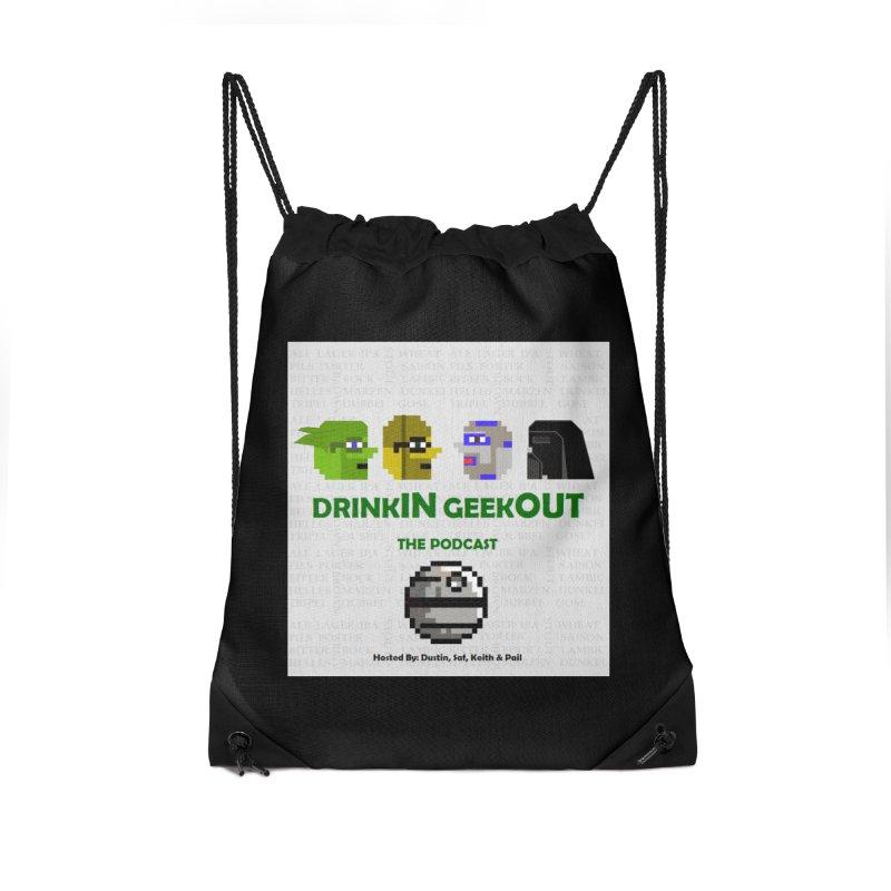 Star Wars Heads Accessories Drawstring Bag Bag by DrinkIN GeekOUT's Artist Shop