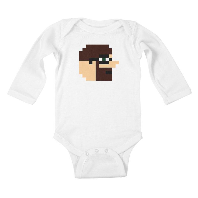 Dustin Kids Baby Longsleeve Bodysuit by DrinkIN GeekOUT's Artist Shop