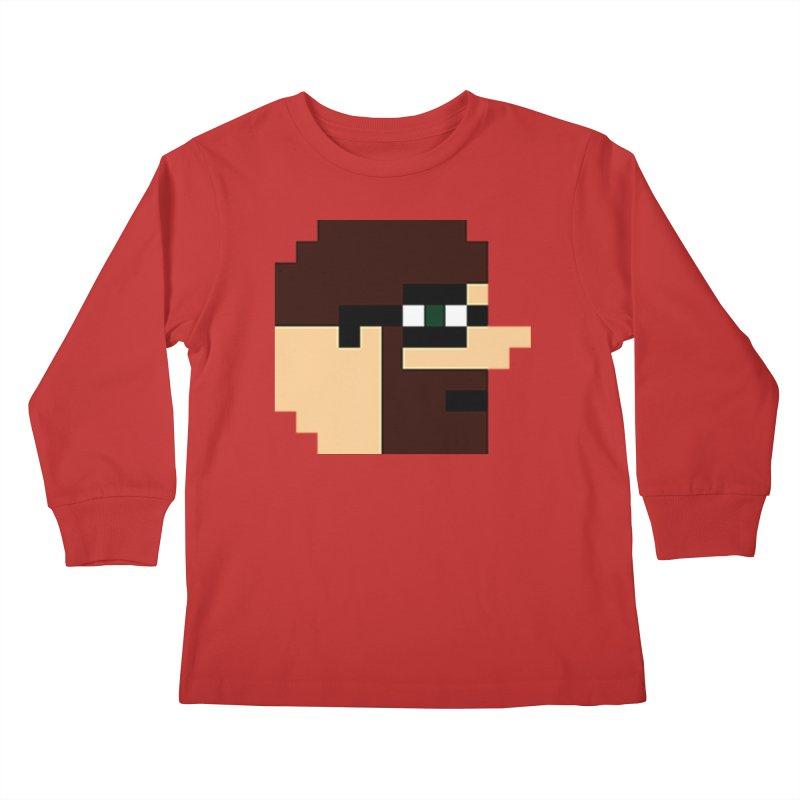 Dustin Kids Longsleeve T-Shirt by DrinkIN GeekOUT's Artist Shop