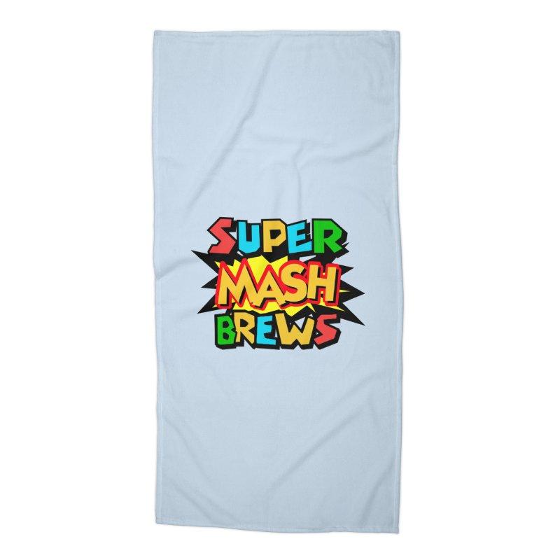Super Mash Brews Accessories Beach Towel by DrinkIN GeekOUT's Artist Shop