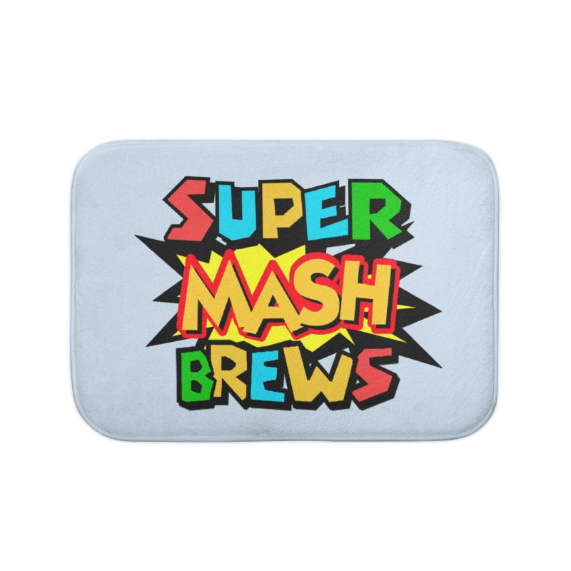 Super Mash Brews Home Bath Mat by DrinkIN GeekOUT's Artist Shop