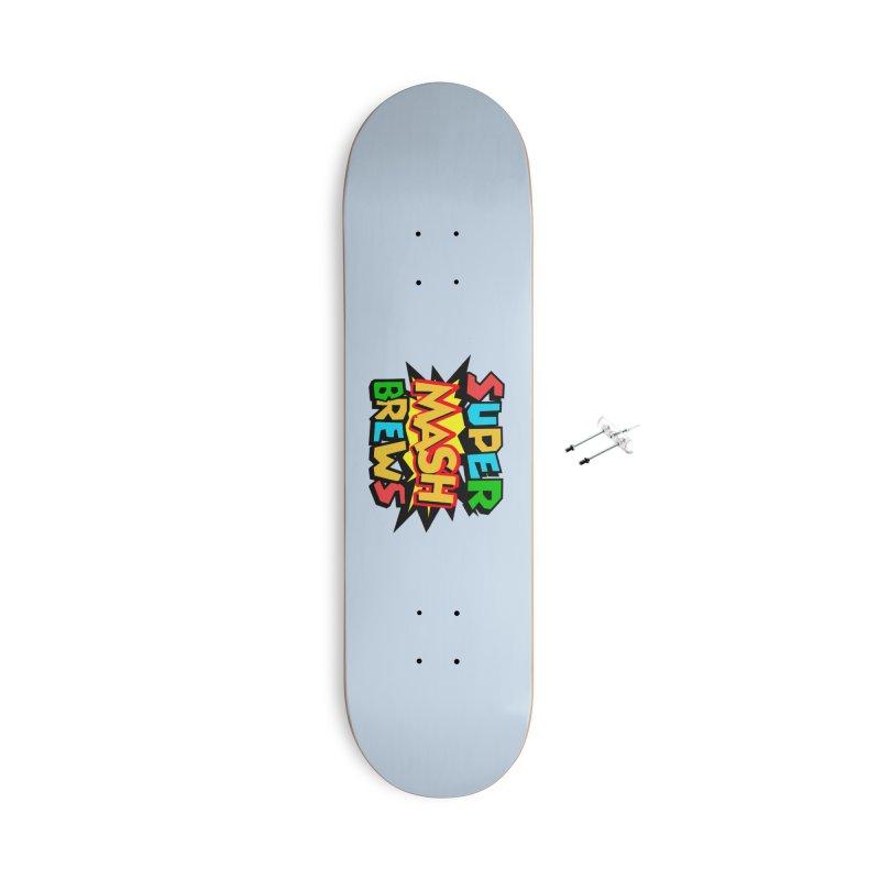 Super Mash Brews Accessories With Hanging Hardware Skateboard by DrinkIN GeekOUT's Artist Shop