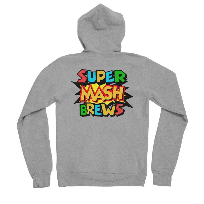 Super Mash Brews Men's Sponge Fleece Zip-Up Hoody by DrinkIN GeekOUT's Artist Shop